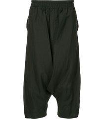 julius drop-crotch shorts - black