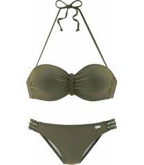 bikini lascana green buffalo bandeau bikini 2-delige set