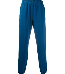 les tien elasticated-waist track pants - blue