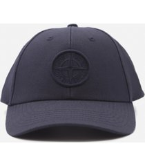 stone island wool blend baseball cap with embroidered logo