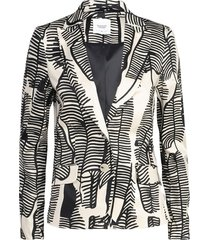 1s978-11121 blazer leaves cotton stretch