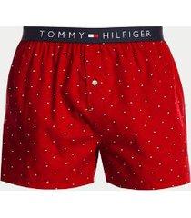 tommy hilfiger men's cotton classics fashion boxer tango red micro flag print - xl