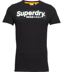 camo international infill tee t-shirts short-sleeved svart superdry