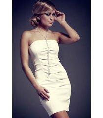 sukienka luiziana mod. nr 50 ecru