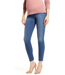 women's 7 for all mankind b(air) raw hem ankle skinny maternity jeans