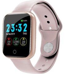bakeey i5 continuo corazón rate o2 monitor cara del reloj recordatorio de identificación de llamadas de whatsapp reloj inteligente de cuerpo completo - rosado
