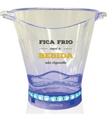 balde de gelo com led personalizado fica frio - incolor - dafiti