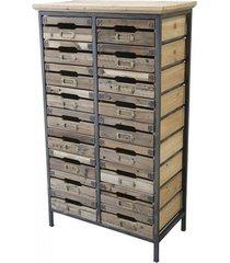 komoda drewniana 16 szuflad loft factory