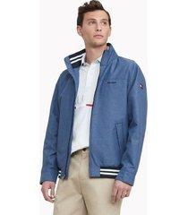 tommy hilfiger men's essential regatta jacket navy heather - xs