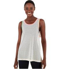 camiseta regata farm rio tela lisa flúor - feminina - off white