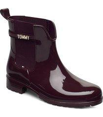 block branding rainboot shoes chelsea boots brun tommy hilfiger