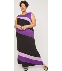 anywear slant stripe maxi dress