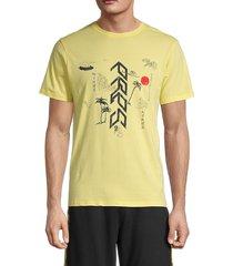 prps men's bogota graphic cotton t-shirt - yellow - size xxl