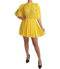 geplooid a-lijn mini 100% zijden jurk
