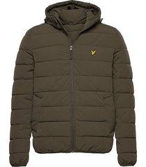 lightweight puffer jacket gevoerd jack groen lyle & scott