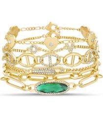 6-piece mixed bracelet set