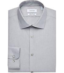 calvin klein infinite graphite regular fit dress shirt