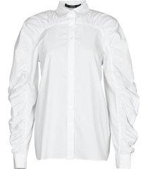 overhemd karl lagerfeld poplin blouse w/ gathering