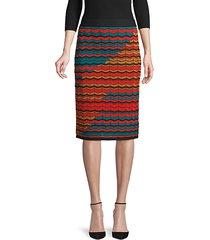 chevron sweater pencil skirt
