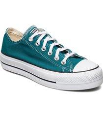 ctas lift ox bright spruce/white/black sneakers skor grön converse