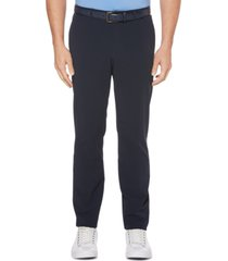 perry ellis men's big slim-fit stretch non-iron tech pants