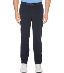 perry ellis men's big slim-fit stretch non-iron tech pants