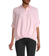 heroes & dreamers women's novelty cotton top - pink - size l