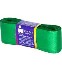 fita de cetim nº09 38mm peça com 10m verde bandeira