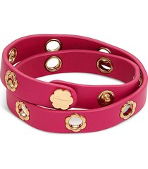 salvatore ferragamo women's leather wrap bracelet