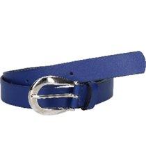 cinturón cuero azul pollini