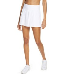 women's spanx booty boost double layer skort, size small - white
