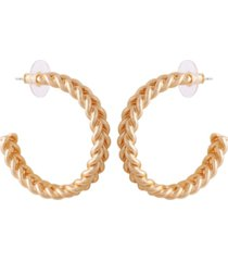 t tahari women's fashionable florals hoop earring