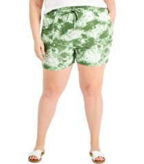 style & co plus size printed shorts, created for macy's