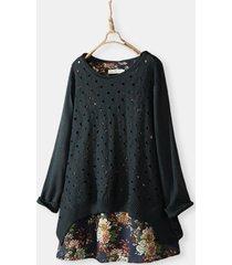 camicetta da donna vintage a due pezzi in maglia