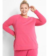 lane bryant women's livi crew-neck sweatshirt 30/32 cabaret pink