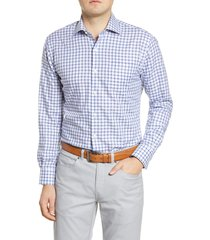 men's peter millar maynard classic fit check button-up shirt
