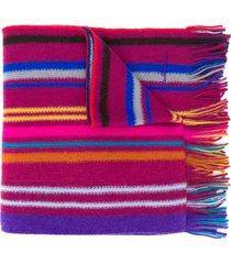paul smith striped scarf - purple