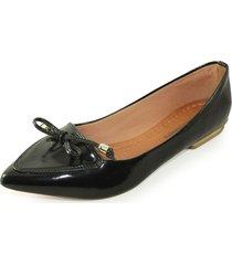-sapatilha laço luiza sobreira verniz preto mod. 1027-2