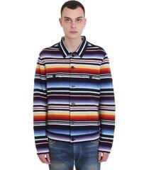 alanui sarape jkt casual jacket in multicolor cashmere