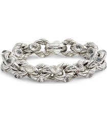 konstantino pythia crystal large chain link bracelet in silver/crystal at nordstrom