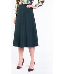 zielona spódnica trapezowa