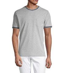 ben sherman men's supima ringer t-shirt - heather grey - size s