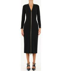 dolce & gabbana long black dress with zipper