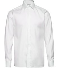 white geometrical jacquard weave shirt – french cuffs skor business vit eton