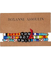 roxanne assoulin you got this camp bracelets - black