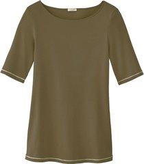 shirt met korte mouw, olijf 40