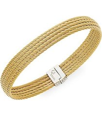 18k gold & stainless steel multi-row bracelet