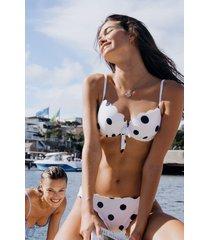 hunkemöller scallop prickig formpressad bikiniöverdel med bygel vit