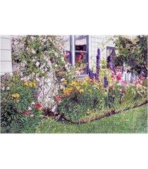 "david lloyd glover the garden on niagara street canvas art - 20"" x 25"""