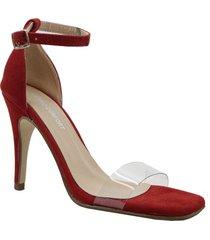 sandalia  roja euro confort